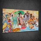 CHINESE PAINTING ORIENTAL COLOURFUL BOX CANVAS PRINT WALL ART PICTURE