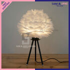 Feathers Night Light Modern LED Table Light Bedside Desk Lamp Bedroom Home