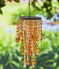 Chandelier Wind Chime Acrylic Crystal Outdoor Porch Yard Garden Home