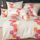 Janine Mako Satin Bettwäsche Messina Design 4840-04 orange-koralle-pink-sand