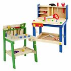 Kids Wooden Work Tool Bench Kitchen Set Play Pretend Toys Cooking Chef Gift Xmas