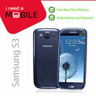Samsung Galaxy S3 - Red-White-Blue-Black-Brown-Grey **UNLOCKED**