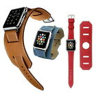 Genuine Leather Strap Cuff Bracelet Leather Watch Bands For Apple Watch iWatch