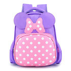 Cute Girls Synthetic Leather Bow School bag Kids Princess Backpack