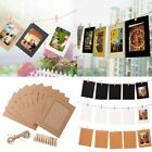 "10pcs 6"" DIY Flim Hanging Wall Picture Paper Photo Album Kraft Frame+Rope+Clips"
