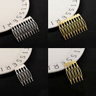 Women Golden Silver Metal Hair Comb Clip Hairpin Wedding Bride Accessories Kit