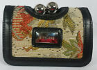 GINA BAG - Ladies Wallet with Embroidered Textile Panel [Now: £9]