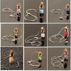 Silver Plated Wishing Bottles Glass Necklaces Women Fashion Jewelry Accessories