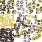 Tiny Daisy Spacer Beads Jewellery Making Findings Silver Gold Plated 4.5mm