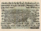 Map of Rockville CT panorama c1895 repro