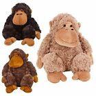 Kids Soft Cuddly Furry Monkey Plush Toy Teddy Animal Toys Xmas Gift Present New