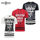 SOUL STAR MENS PERALTO BIG GRAPHIC CASUAL T-SHIRT TOP NAVY,WHITE,RED RRP £ 24.99