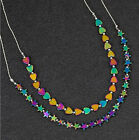 Equilibrium 279575 - RAINBOW HEMATITE NECKLACE - Hearts Stars