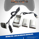 Rechargeable 4800mAh Battery Pack for XBOX 360 Wireless Controller With Cable 2X