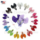12~24 Boutique Baby Girls Grosgrain Ribbon Hair Bows Clips Snap Clips Hairpin 2""