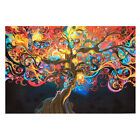 Craft Psychedelic Trippy Tree Abstract Art Silk Print Cloth Poster Home Decor ..