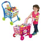 Kids Shopping Trolley Cart Creative Role Play Plastic Food Fruit Fun Xmas Gift