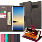 For Samsung Galaxy Note 8 S9 S10+ S20 Slim Flip wallet Stand magnetic Case Cover