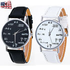 Fashion Women Girls Letter Pattern Leather Band Analog Quartz Vogue Wrist Watch