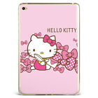 Adorable Hello Kitty Ribbon Pink Soft Silicone Case Cover For Samsung Ipad Hk-1