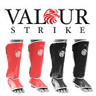Muay Thai Shin Guards Leg Pads Kickboxing MMA Boxing Protector Black/Red