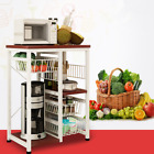 Kitchen Baker's Rack Microwave Oven Stand Storage Cart Workstation Shelf Basket
