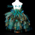Feather peacock Tail tie on bustle Belt Goth Steampunk Fantasy Burlesque S-6xl +