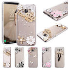 3D Luxury Bling Crystal Rhinestone Diamonds Hard Case for Samsung S8 S7 S6 Note8