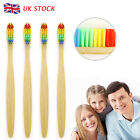 New Bamboo Natural Toothbrush Environmentally Friendly Eco Gentle Soft Colorful