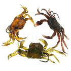 1pc Fishing Tackle Lure Soft 3D Crab Simulation Saltwater Fish Hook Bait 8cm/30g