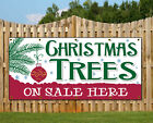 CHRISTMAS TREES FOR SALE BANNER  OUTDOOR BANNER WINTER SALE TREE FOR SALES