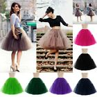 6 Layers Women Maxi Tutu Tulle Skirt Petticoat Wedding Skirts Princess Prom Gown