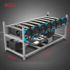 Aluminum Stackable Mining Case 6/ 8GPU Rig Open Air Frame For ETH/ETC/ ZCash