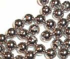 20 SILVER TUNGSTEN SLOTTED BEADS FOR FLY TYING U PICK SIZE 2.0, 3.0, 4.0, 4.6 mm
