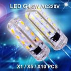 Pack of 10pc 220V 3W Led G4 Bulb light for ceiling chandelier,super bright