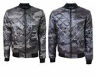 Mens Smith&Jones Camouflage Padded Quilted Harrington Jacket Army Coat S-XL