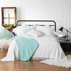 NEW White Kalia Cotton Bedspread Set Bianca