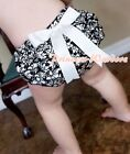 Damask Rose Floral Damascena Baby Girl Bloomers Pantie Bow For Pettiskirt 6m-3Y