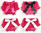 Newborn Romantic Rose Print Hot Pink Pantie Bloomer with Bow 4 Pettiskirt 6m-3Y