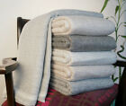 Cashmere Wool Blankets Throws 100% Hand Woven Travel Throws image