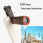 8X12X Zoom Telephoto Telescope Lens Phone Camera Clip For iPhone XR 5 /6 /7 / 8
