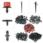 Yard Drip System Adjustable Irrigation Drippers Nozzle Barb Connector Kits H1T3