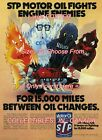 """STP MOTOR OIL 1977 Car HEAT Cold SLUDGE Wear =POSTER CHOOSE FROM 7 SIZES 19""""-36"""""""