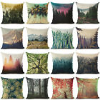 18'' Natural Scenery Cotton Linen Pillow Case Cushion Cover Fashion Home Decor image