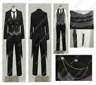 Black Butler 2 Kuroshitsuji Sebastian Cosplay party Costume Full Set Party