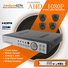 4ch 1080P Security CCTV System HD P2P Cloud with 2 Megapixel AHD Dome Camera