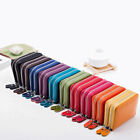 Men's Womens Real Leather Small ID Credit Card Wallet Holder Money Pocket Case