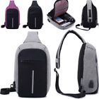 Waterproof Anti-theft Crossbody Pack USB Charger Smart Chest Sling Travel Bag