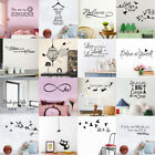 Quote Wall Sticker Family Home Decor Tree Bird Kids Bedroom Decal Kitchen Vinyl