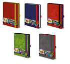 Official Retro Marvel Premium A5 Notebook Leather Look Note Pad Journal Gift